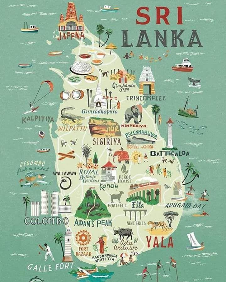 Sri Lanka Kort Plakat Kort I Sri Lanka Kort Plakat Sydlige