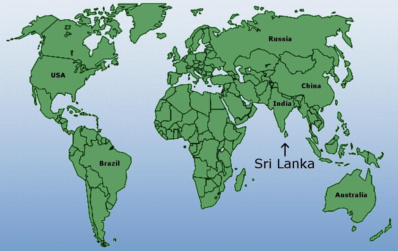Sri Lanka Verden Kort Verden Kort Der Viser Sri Lanka Sydlige